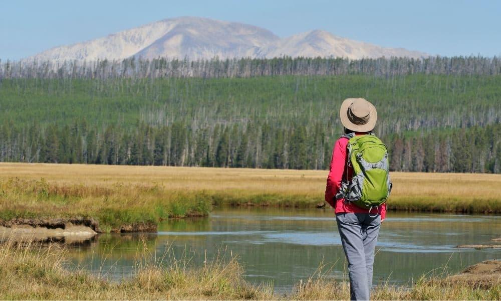 Yellowstone hiking