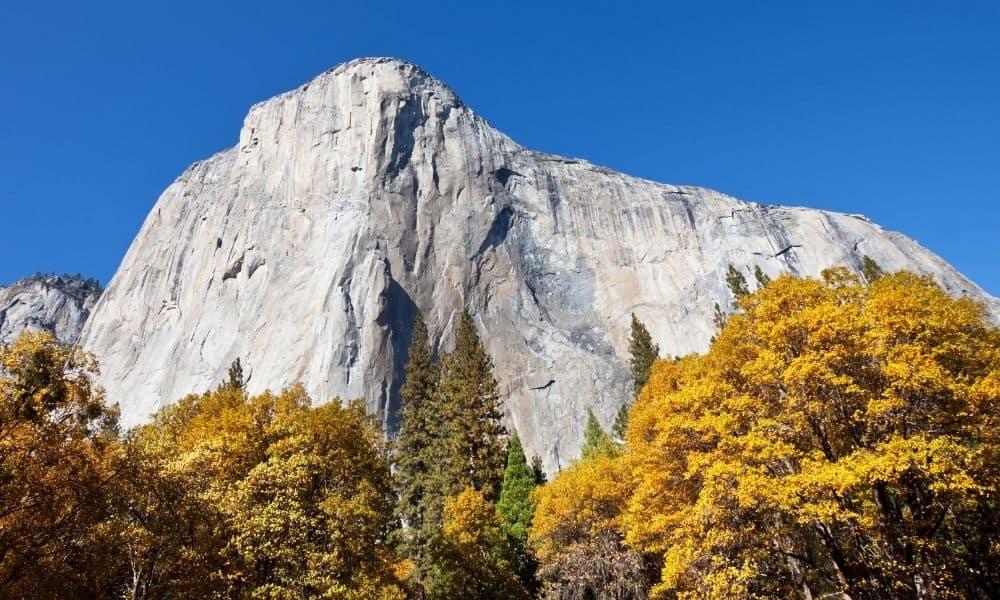 El Capitan at Yosemite National Park in the fall