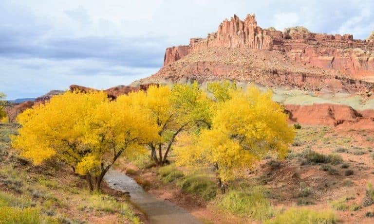 Capitol Reef National Park in October