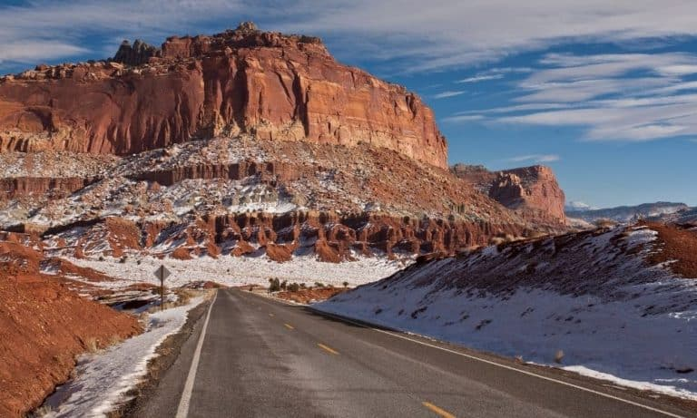 Capitol Reef National Park in the Winter